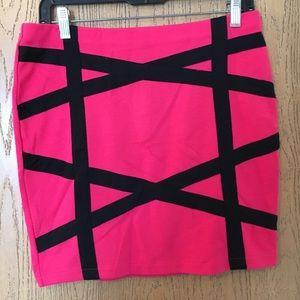 Dresses & Skirts - Hot pink mini skirt zip on back